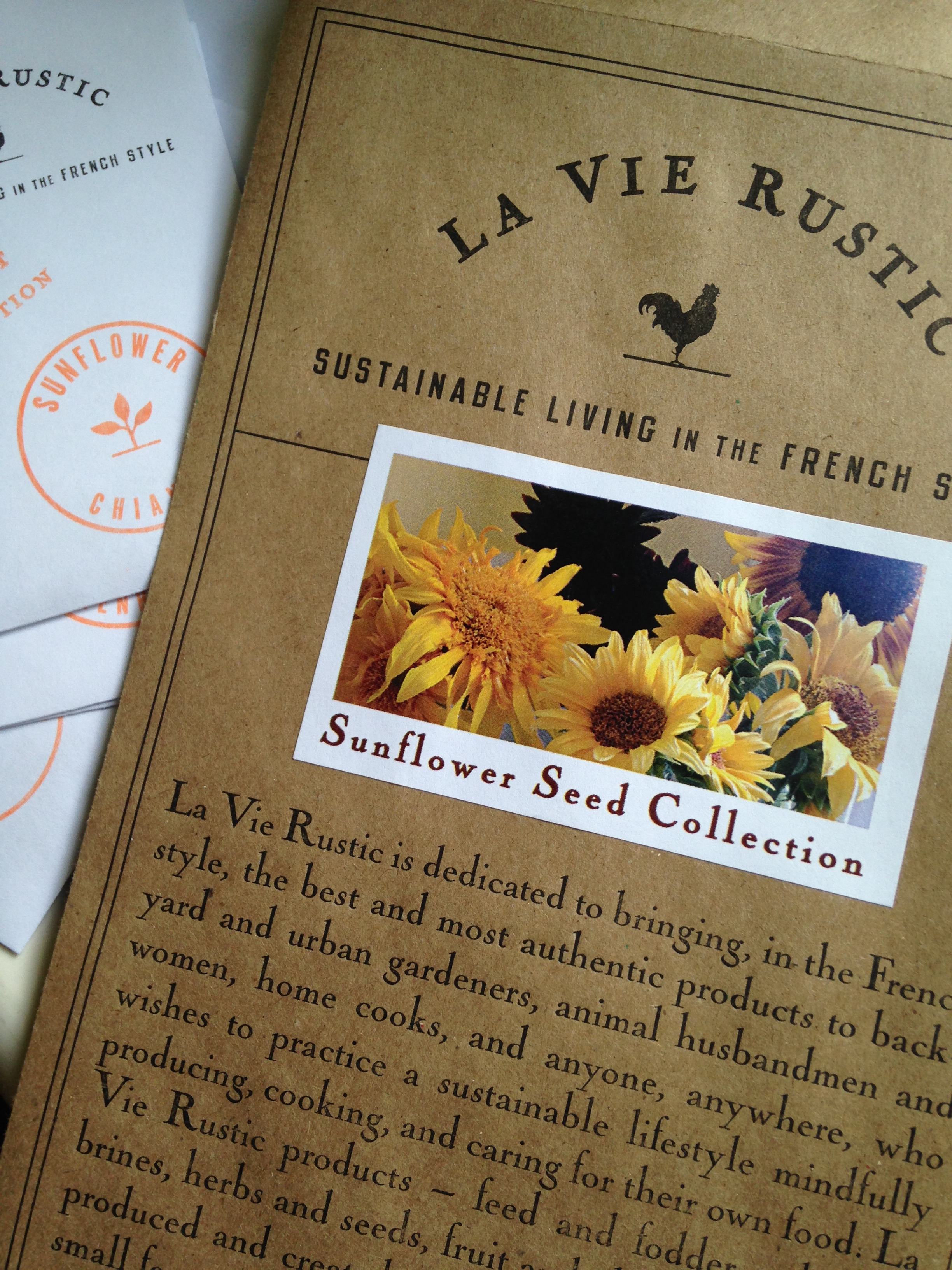 La Vie Rustic Sunflower Seed Collection