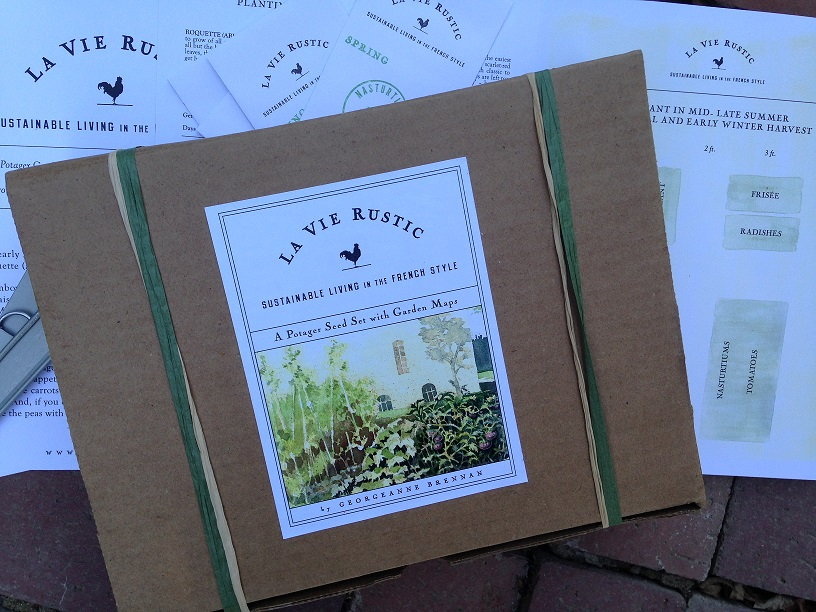 A POTAGER GARDEN SET WITH MAPS